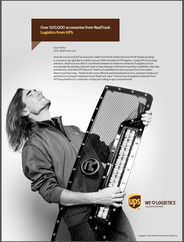 Scott Bintz in UPS Ad