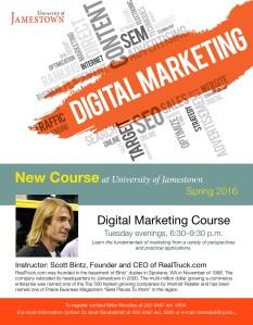 University of Jamestown Digital Marketing Course - Scott Bintz