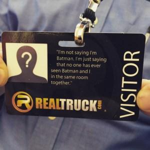 RealTruck Visitor Badge